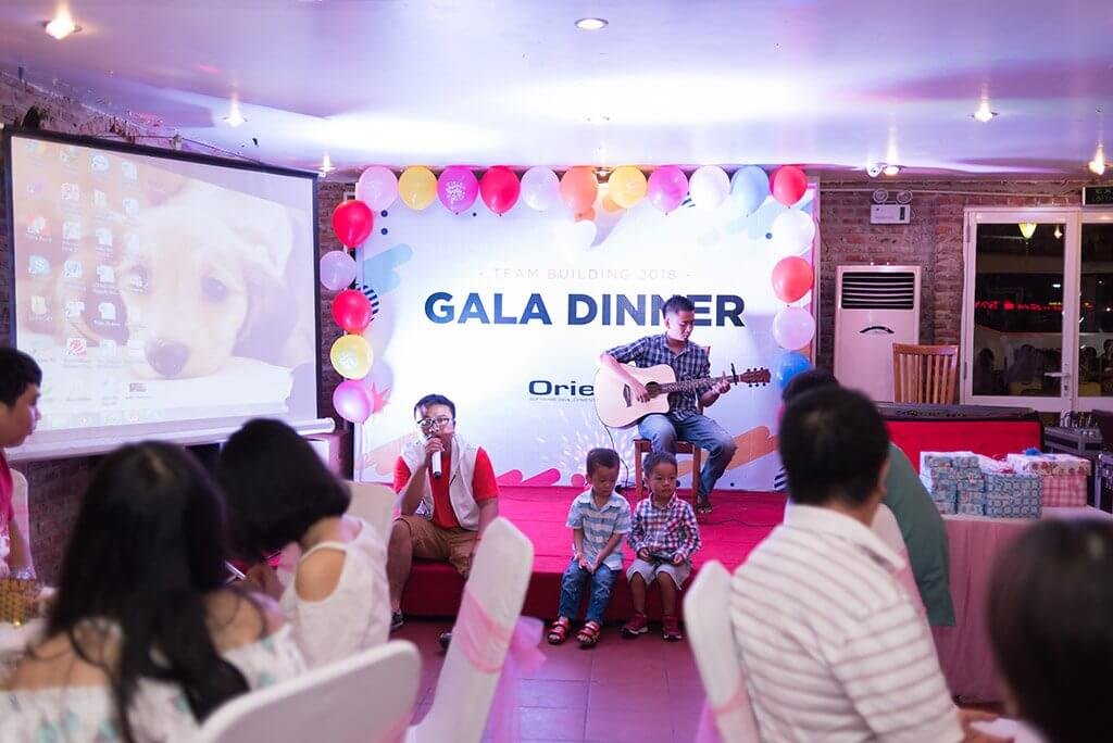 The stage of Gala Dinner