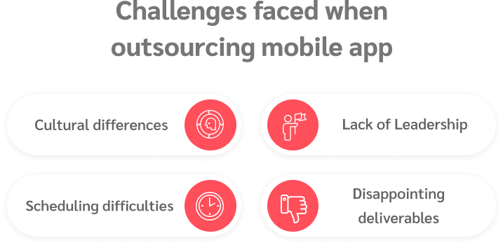Challenges when outsourcing app development
